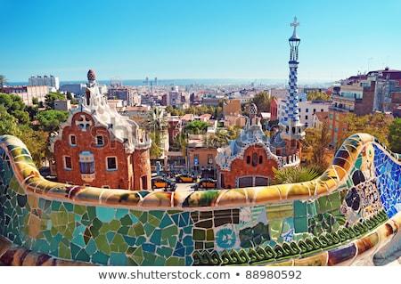 Kleurrijk mozaiek Barcelona Spanje gekleurd tegel Stockfoto © fazon1