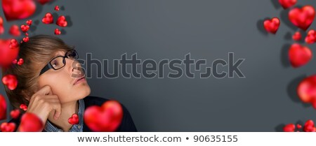 Image of young man thinking of his plans. Lots of copyspace Stock photo © HASLOO