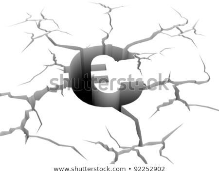 euro symbol fall down a precipice Stock photo © marinini