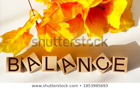 Stock photo: risk blocks orange color on white background