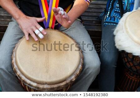 garçon · fille · jouer · instrument · de · musique · couple · fond - photo stock © photography33