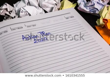 Kişisel gündem siyah kalem seçici odak Stok fotoğraf © silent47