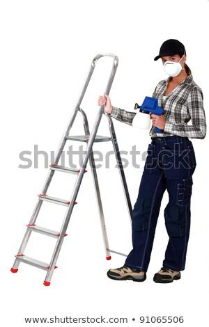 女性 はしご スプレー式塗料 色 画家 ストックフォト © photography33
