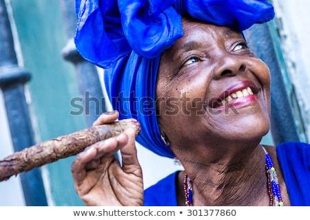 woman and cigar Stock photo © imarin