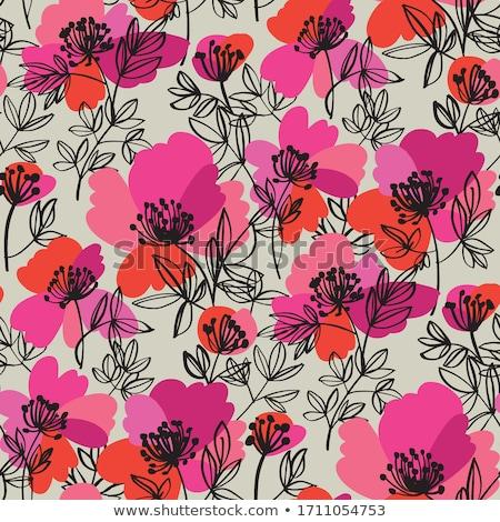 Padrão folha verão cabeça japonês rosa Foto stock © Galyna