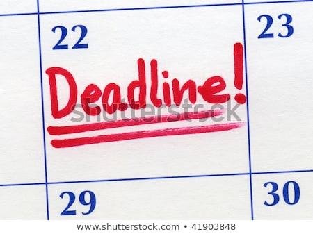 Stock photo: Deadline day written on a calendar.