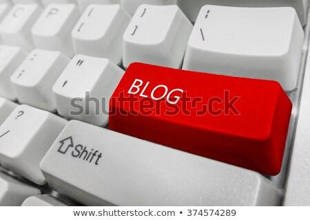 blog · tastiera · pulsante · computer · rete · chiave - foto d'archivio © MilosBekic