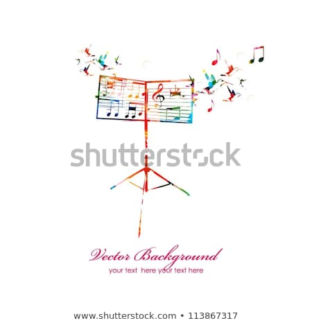 abstract music background with birds stock photo © elmiko