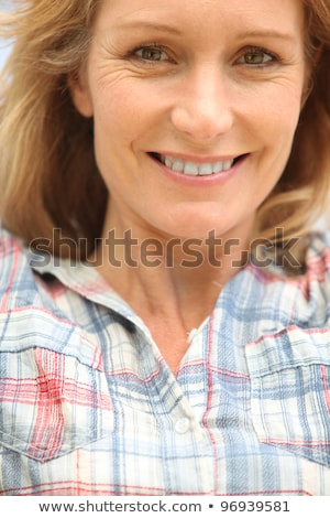 Closeup of a woman in her late thirties Stock photo © photography33
