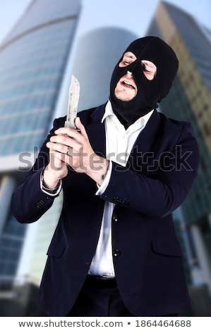 3d businessman robbing a robber stock photo © texelart