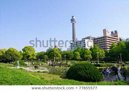 Parque Yokohama Japão céu azul turista Foto stock © yoshiyayo