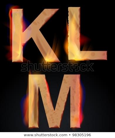 brand · alfabet · letter · l · geïsoleerd · zwarte · abstract - stockfoto © elmiko