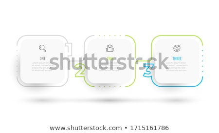 vector progress background with three steps stock photo © orson