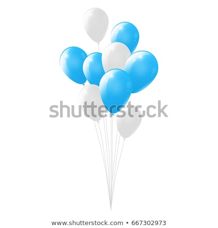 balloons white and blue stock photo © jezper