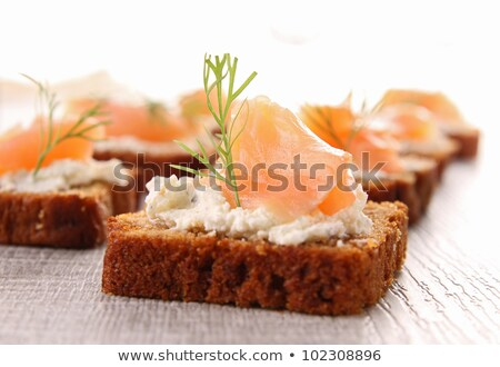 Stock photo: gingerbread, cheese and salmon
