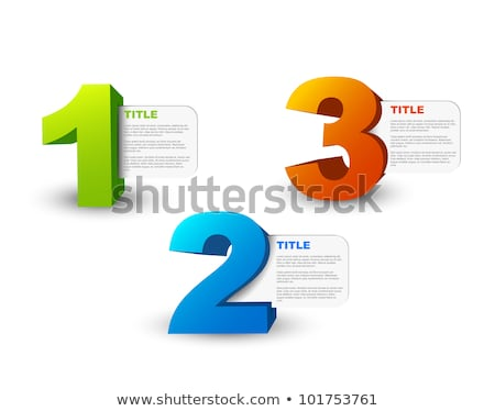 One two three - 3D vector progress icons stock photo © orson