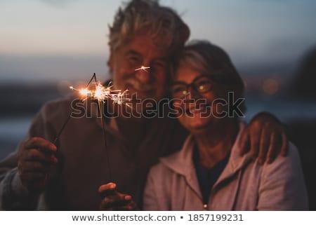 avós · netos · linha · patins · parque · família - foto stock © photography33