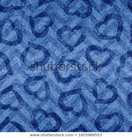джинсовой · сердце · реалистичный · моде · дизайна · синий - Сток-фото © vintrom