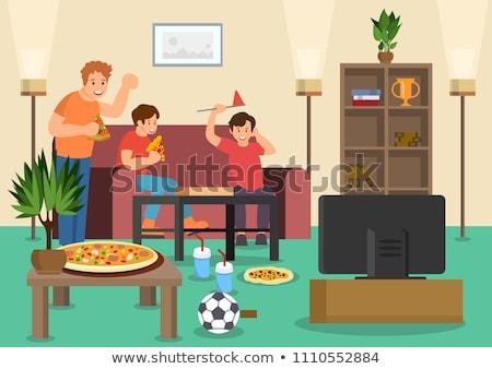Three Italian football supporters Stock photo © photography33