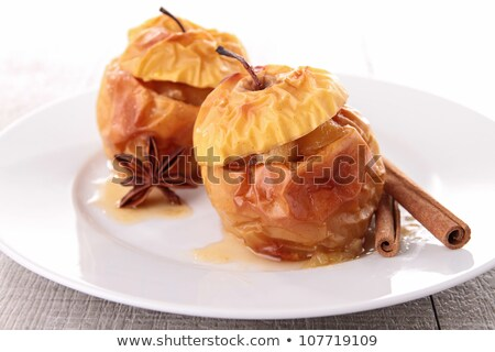 gourmet baked apple with redcurrant Stock photo © M-studio