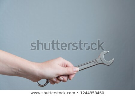 craftsman holding a spanner stock photo © photography33