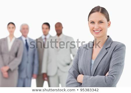 бизнеса за улыбающаяся женщина Сток-фото © stockyimages