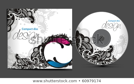 abstract music cd template Stock photo © pathakdesigner