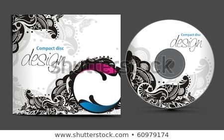 absztrakt · cd · sablon · számítógép · iroda · zene - stock fotó © pathakdesigner