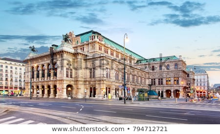 the vienna opera house at night in vienna austria stock photo © vladacanon