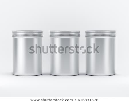 Round grey case isolated on white Stock photo © shutswis