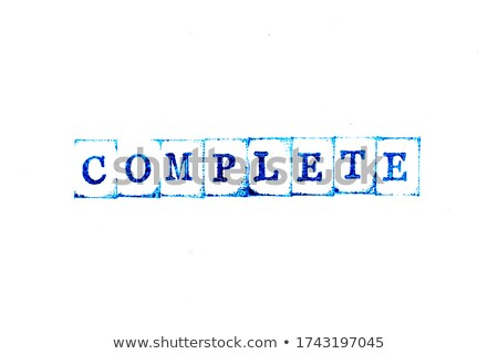 Completed rubber stamp stock photo © IMaster