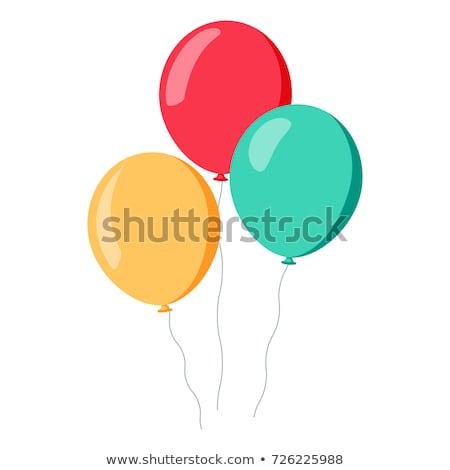 Balonlar mutlu doğum günü eğlence beyaz balon Stok fotoğraf © almir1968