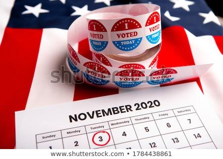 Сток-фото: Vote Badge For United States