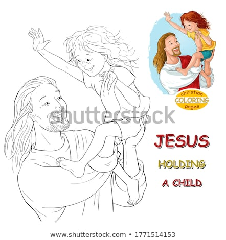 Иисус Христа девушки ребенка фон Сток-фото © zzve