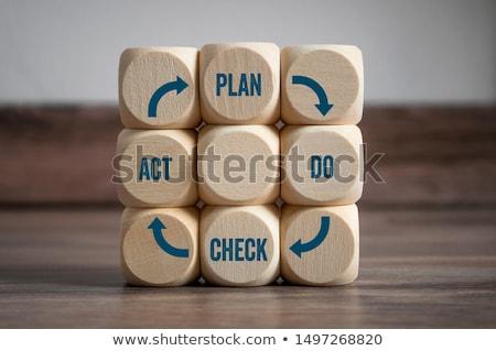pdca plan do check act on a white background stock photo © m_pavlov