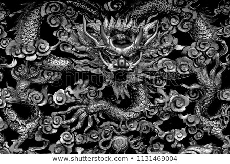 chinese temple sculpture Stock photo © smithore
