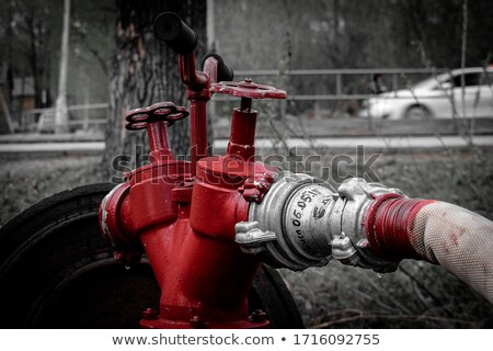 Old black fire hydrant Stock photo © franky242