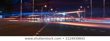 bus traveling on highway motion blur effect stock photo © deyangeorgiev