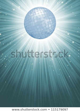 party banner with disco ball eps 8 stock photo © beholdereye