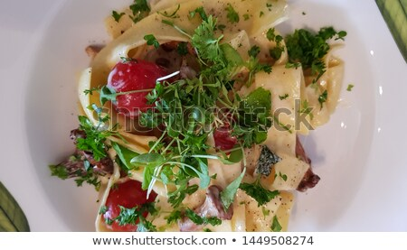 chanterelles and cress stock photo © sarsmis