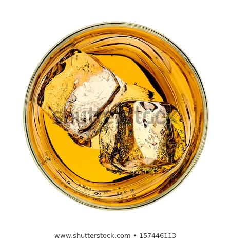 glass of scotch top view Stock photo © shutswis