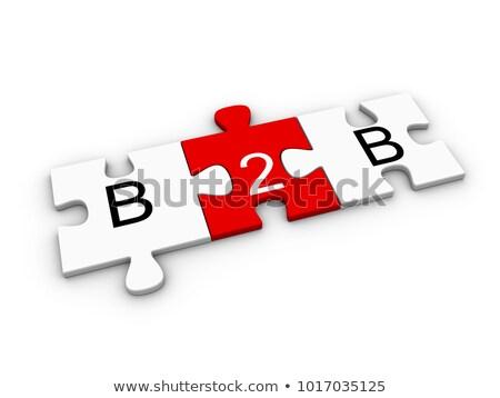 3D B2B on white background Stock photo © Mariusz_Prusaczyk