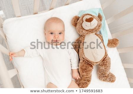 Portret slapen baby wieg home vrouw Stockfoto © wavebreak_media