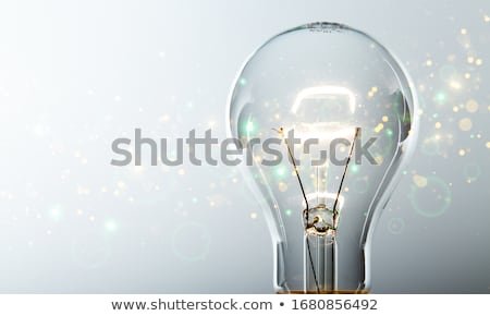 Stockfoto: Verlicht · lamp · man · wijzend · business · lamp
