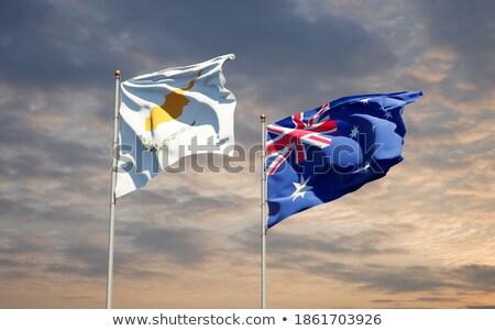 Austrália Chipre mundo australiano bandeira Foto stock © ruskpp
