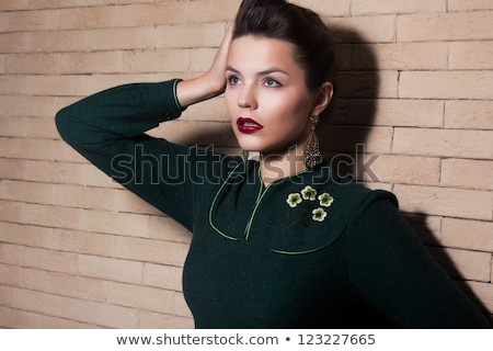 Imposing Elegant Brunette Lady - Femininity And Harmony Zdjęcia stock © Gromovataya