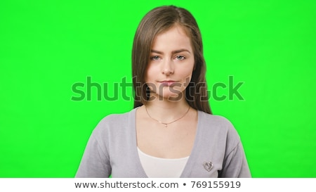 şaşırmış · kadın · yeşil · heyecanlı · Asya - stok fotoğraf © rosipro