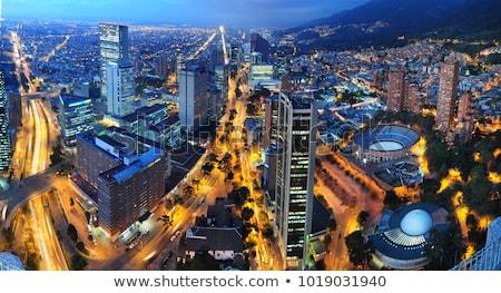 Kilátás belváros Bogotá Colombia történelmi égbolt Stock fotó © jkraft5
