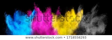 gotas · água · abstrato · azul · imprimir · preto - foto stock © lightsource