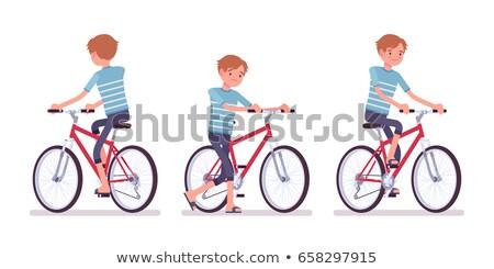 Rear view of bike Stock photo © leungchopan